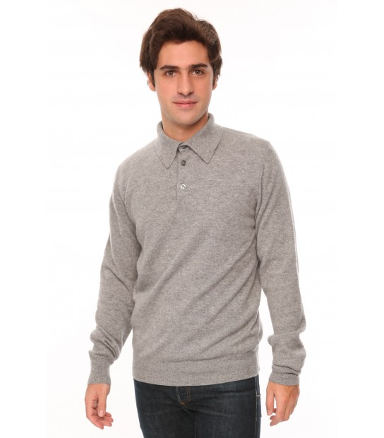 Polo cachemire homme