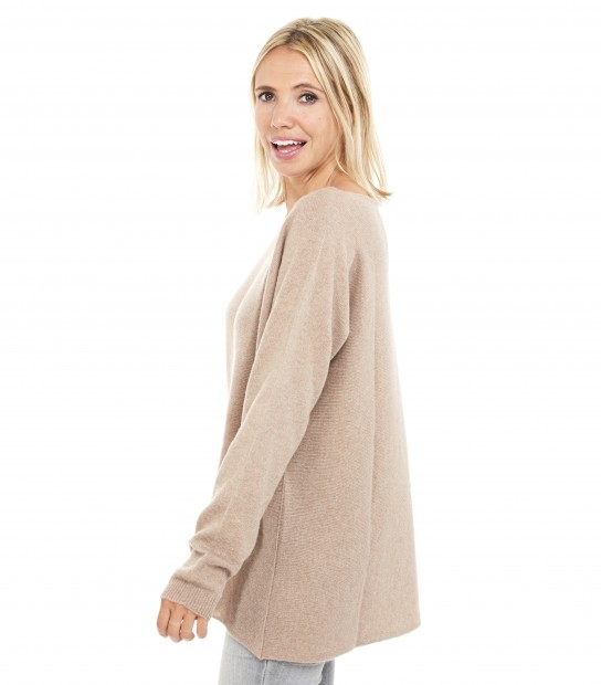 Pull Cachemire Maxi - Sable