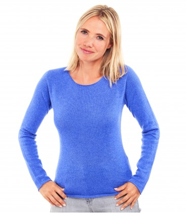 Pull Cachemire col rond sans couture - Jeans