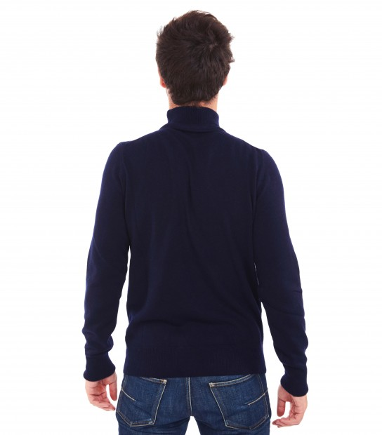 Pull col montant - Marine