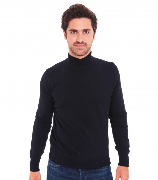 Pull col montant - Noir
