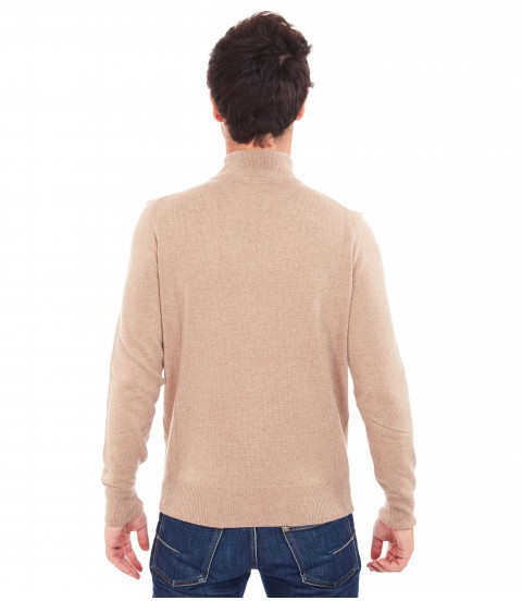 Pull col montant - Beige