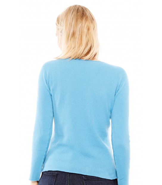 Pull cachemire - Turquoise