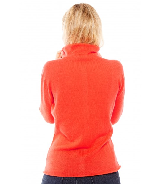 Gilet col montant - Rouge