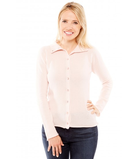Gilet col montant - Rose
