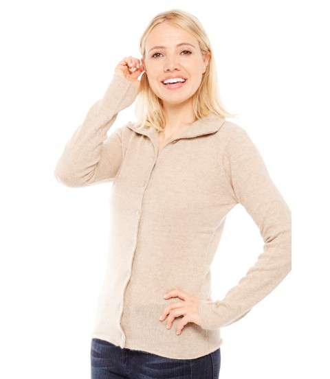 Gilet col montant - Beige